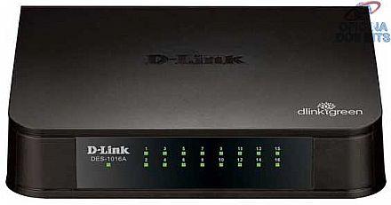 Switch 16 portas D-Link DES-1016A - 100Mbps