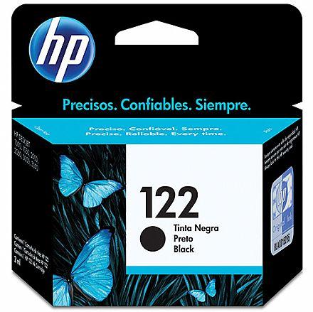 Cartucho HP 122 Preto - CH561HB - Para Deskjet 1000, 2000, 2050, 3000, 3050