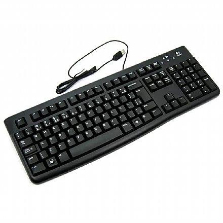 Teclado Logitech Desktop K120 - ABNT2 - Preto - 920-002481